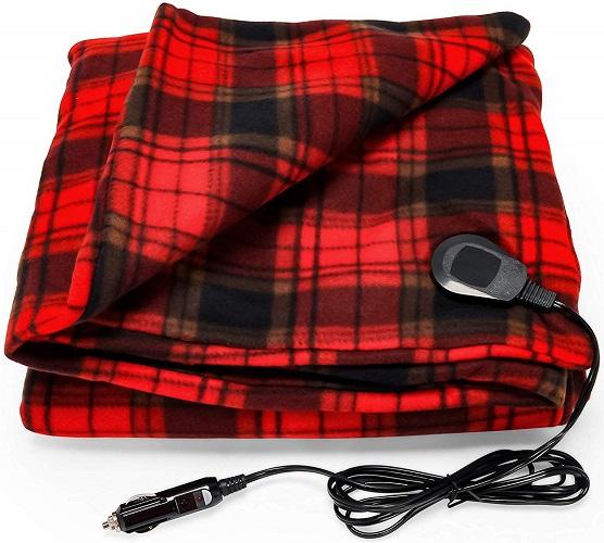 Camco Polar Fleece Heated Blanket for Cars