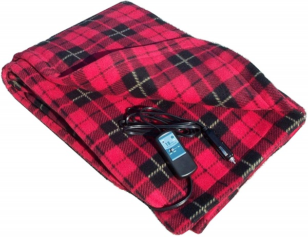 Car Cozy 12 Volt Heated Travel Blanket
