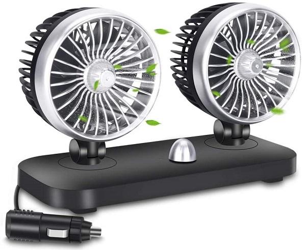 Electric 12v Dual Head Car Fan