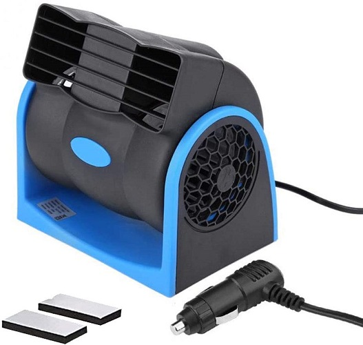 Hitopty 12v Cigarette Lighter Car Plug Fan