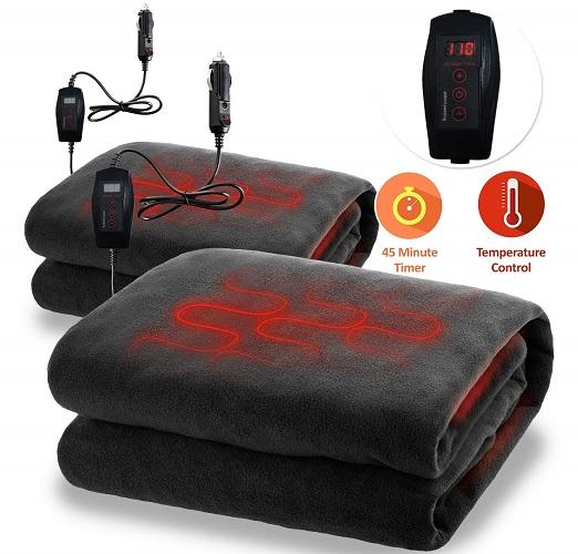 Zone Tech Car Heated Fireproof Blanket