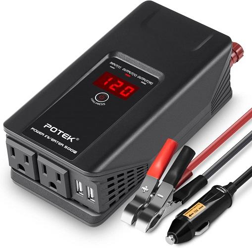 Potek 12v Car Power Adapter