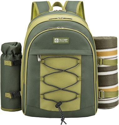 Picnic Backpack Hamper with Cooler