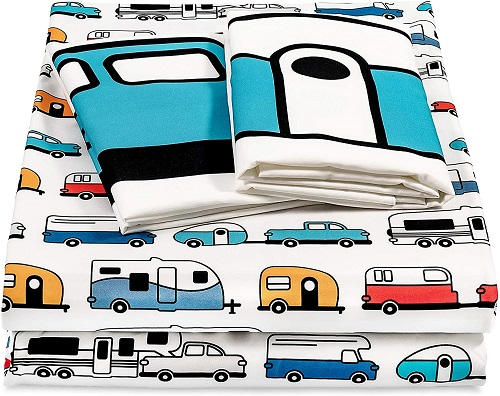 RV Print Bed Sheets and Pillow Cases