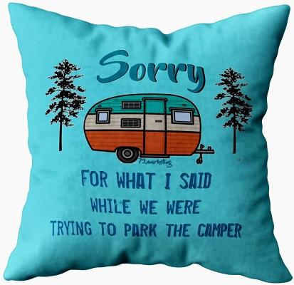 RV Themed Throw Pillowcase