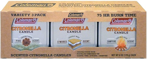Scented Citronella Candles Gift Pack