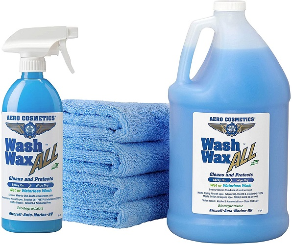 Wet or Waterless RV Wash Wax Kit