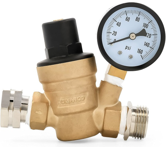 Camco Adjustable Brass Water Pressure Regulator
