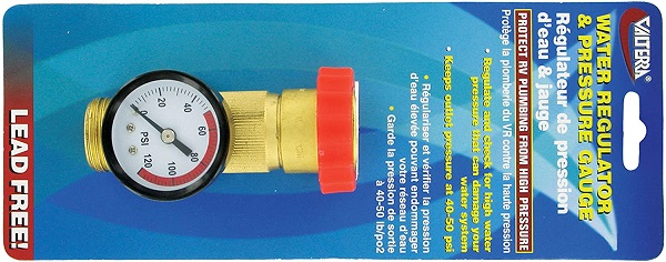 Valterra Brass Water Regulator Gauge Combo
