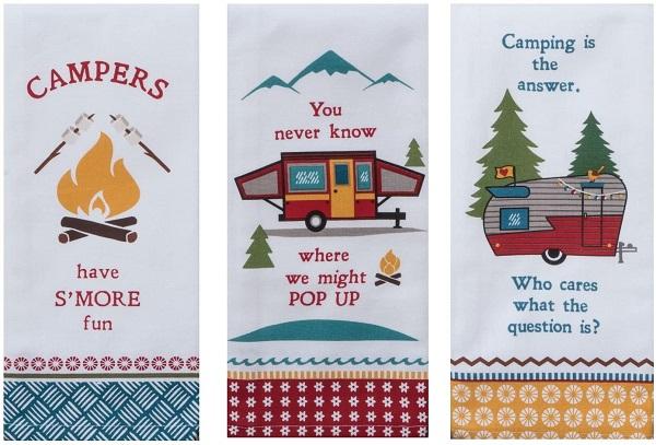 Camping Life RV Tea Towels