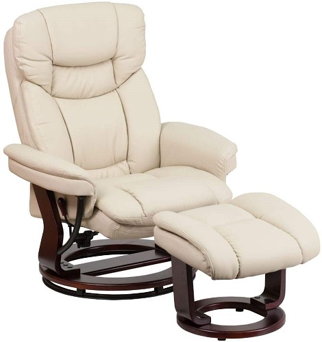 Flash Furniture Recliner Chair with Ottoman