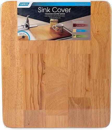 Oak RV Sink Cover