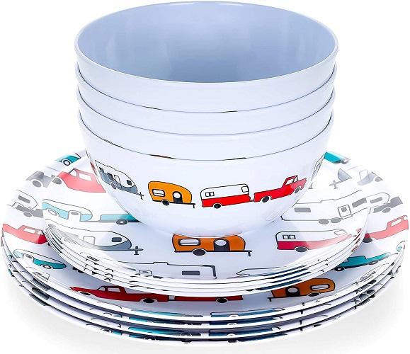 Retro RV Dishware