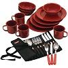 Coleman 24 Piece Enamel Dinnerware Set Compare