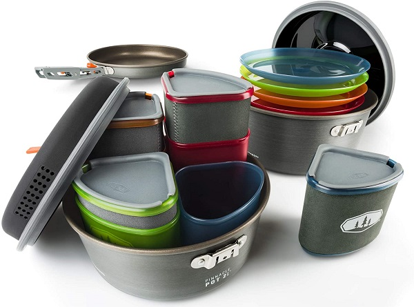 GSI Outdoors Camper Cooking Set for Four