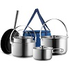 Travel Stainless Steel Camping Cookware Set Compare