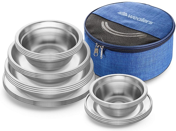 Wealers Plates and Bowls Camping Set