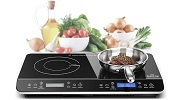Duxtop LCD Portable Double Induction Cooktop Small